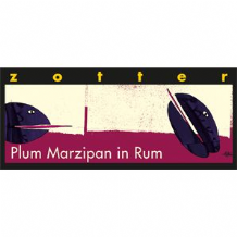 Zotter Plum Marzipan In Rum Dark Milk Chocolate Bar 70g